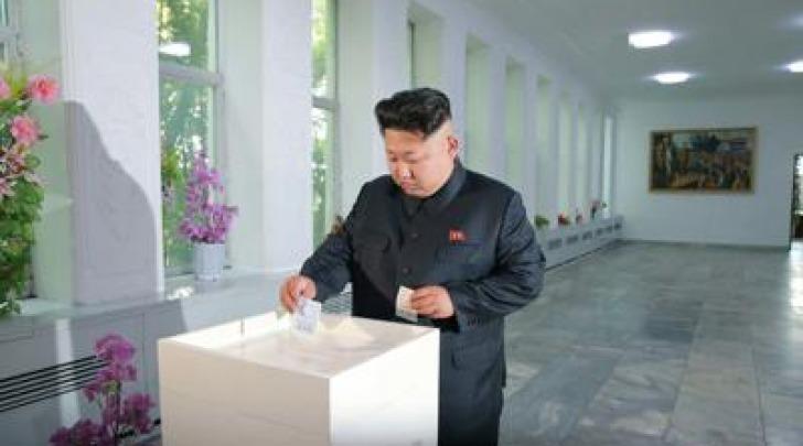 Kim Jong-un voto Corea del Nord