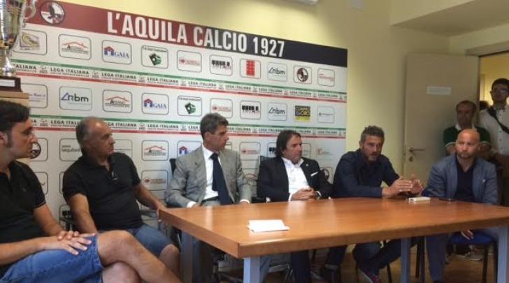 conferenza stampa l'aquila calcio