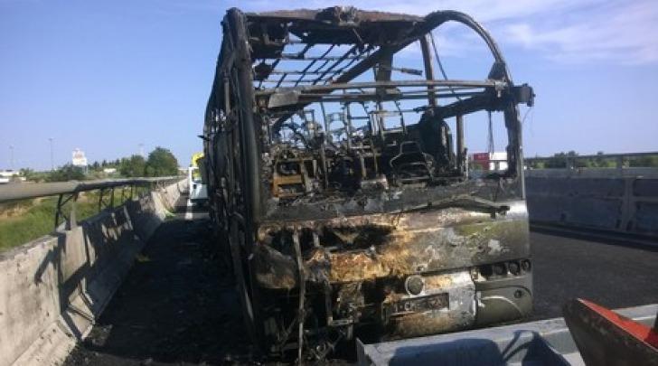 bus fiamme A/14