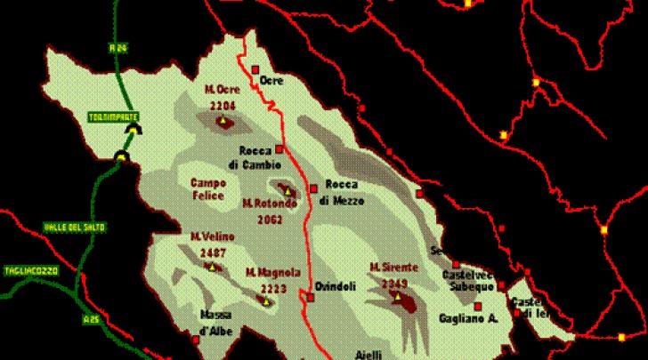 Mappa parco Velino-Sirente