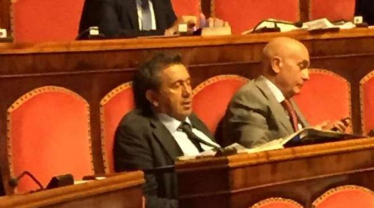 Antonio Azzollini dorme al Senato