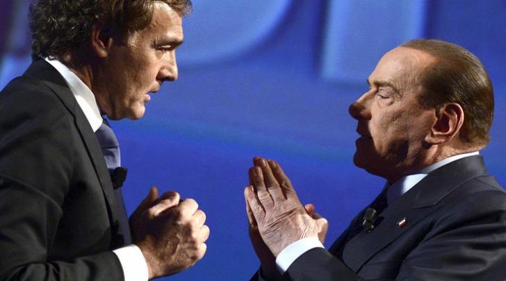 Massimo Giletti e Silvio Berlusconi