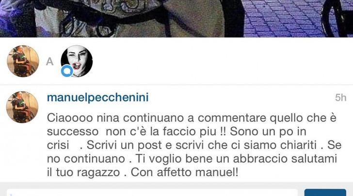 Nina Moric Chiarimento instagram