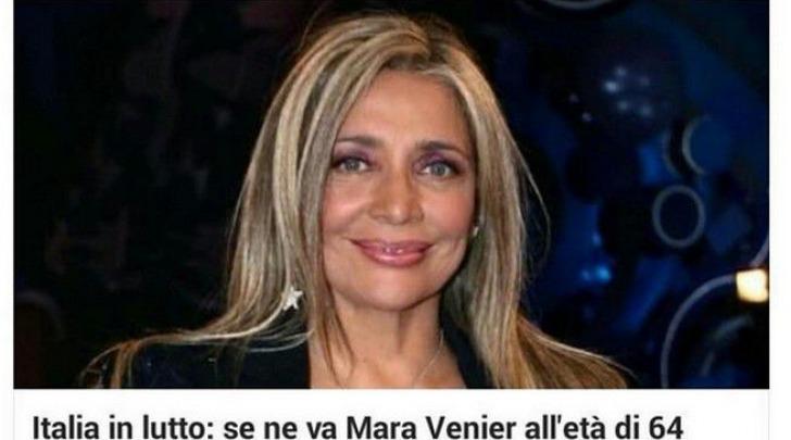 Mara Venier Morta