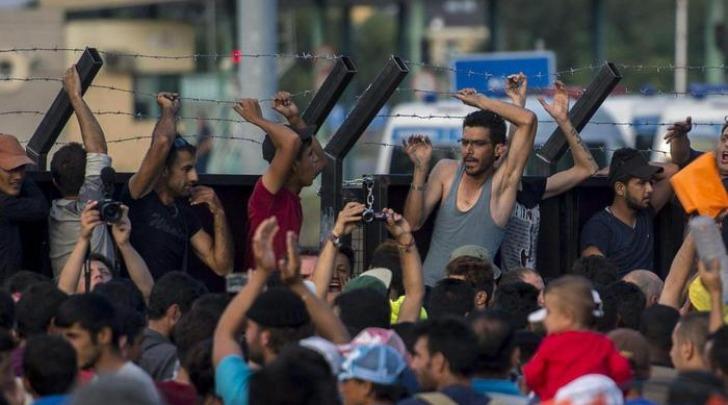 Migranti protestano al confine ungherese