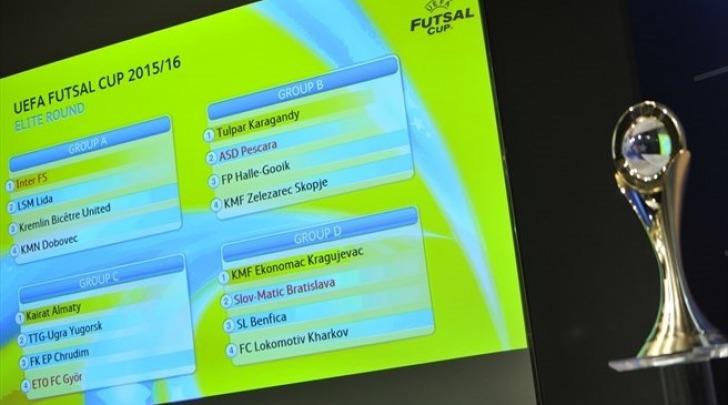 sorteggio UEFA FUTSAL CUP 2015