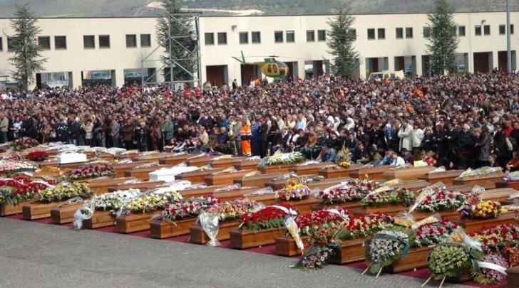 Funerale vittime terremoto