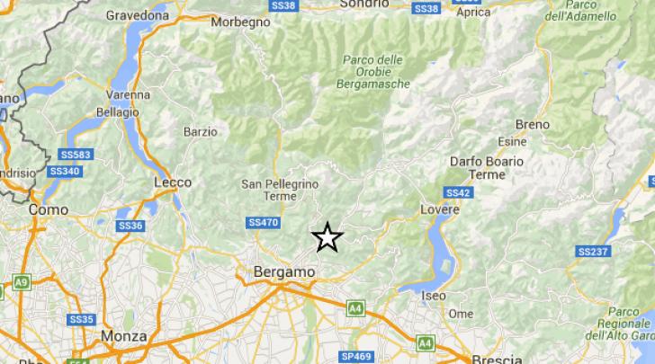 terremoto a Bergamo