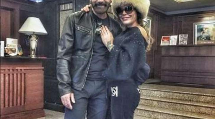 Naike Rivelli con Antonio Banderas (foto Instagram)