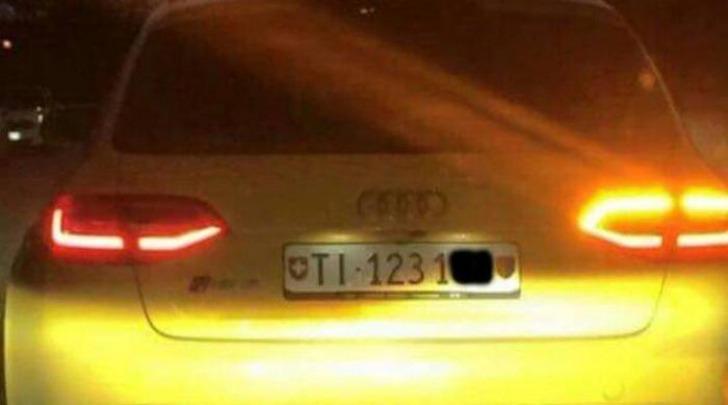 Audi Rs4 gialla - foto da Facebook della Questura di Vicenza