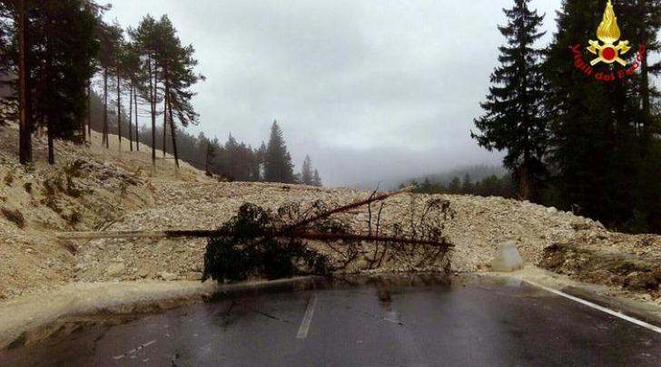 Frana vicino a Cortina