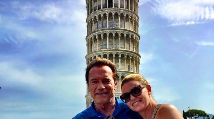Arnold Schwarzenegger a Pisa - foto da facebook