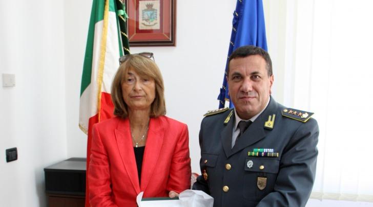 La Dr.ssa Graziella Patrizi ed il Col. Paolo Balzano