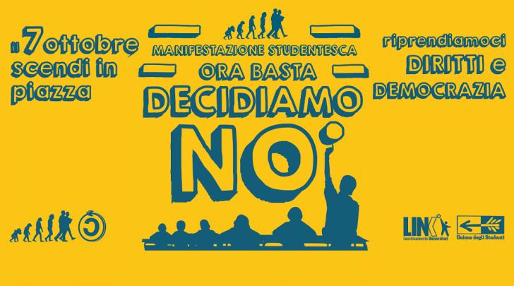 Manifestazione nazionale studentesca 7ottobre2016
