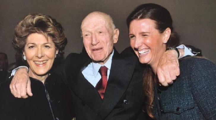 Caprotti con la moglie Giuliana Albera e la figlia Marina Sylvia