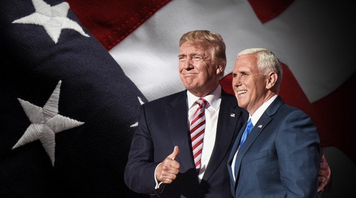 Trump with Vice President-Elect Mike Pence
