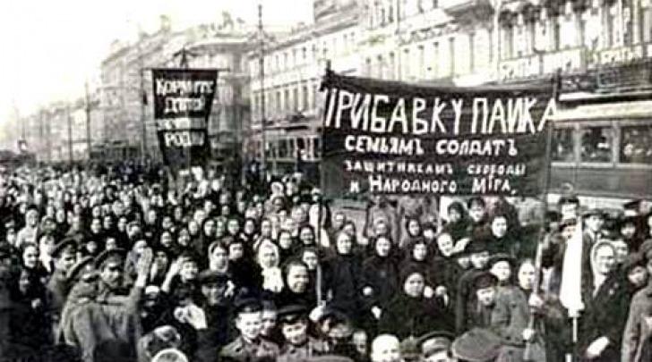 Manifestazione di donne S.Pietroburgo 8.03.1917