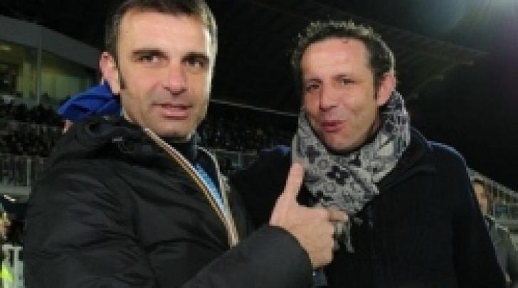 Alessandro Acciavatti, nella foto insieme al ds Delli Carri