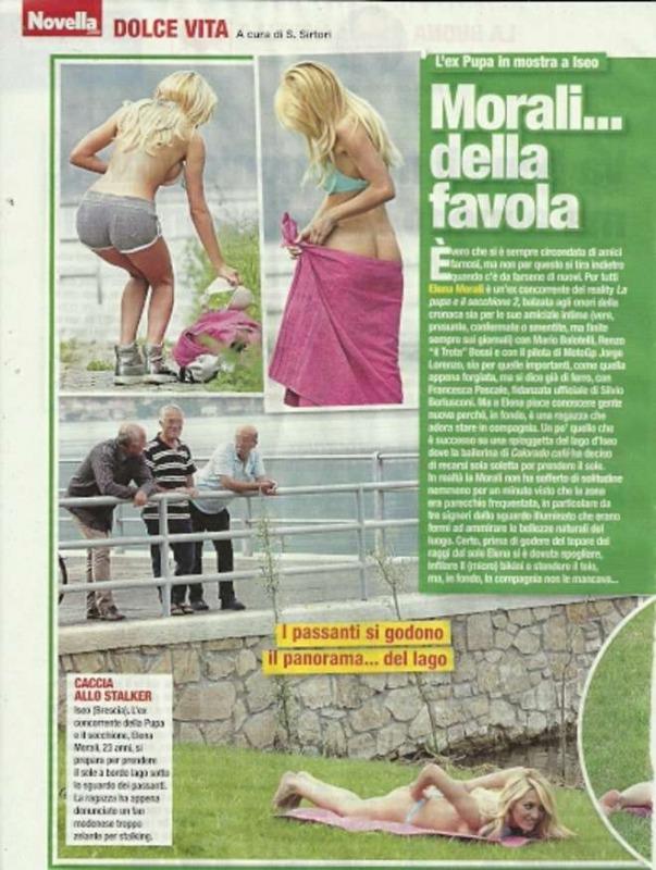 Elena morali l 39 ex del trota fa lo spogliarello di fronte ai vecchietti sul lago d 39 iseo - Spogliarello in bagno ...