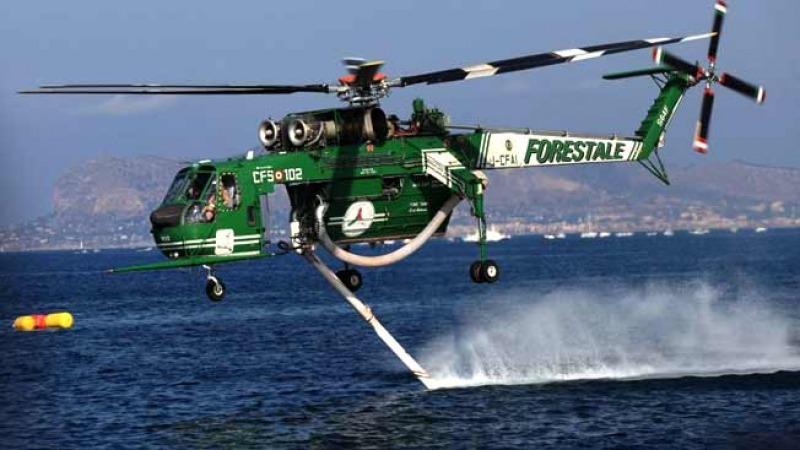 Elicottero Venezia : Incendio nel vastese impiego di canadair ed elicottero