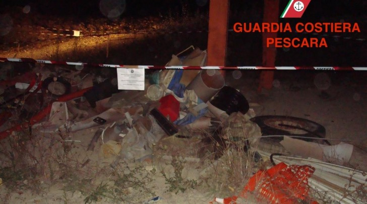 Guardia Costiera-sequestro discarica