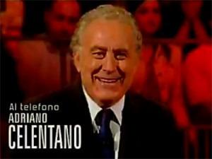 Michele Santoro in diretta telefonica con Adriano Celentano