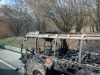 Pullman a fuoco sulla A24 L