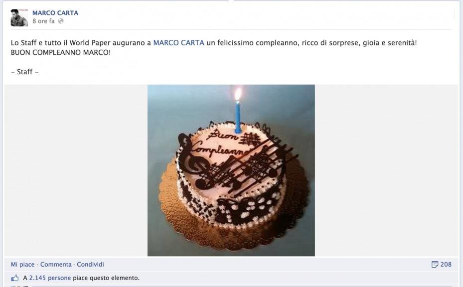 Buon Compleanno Marco Carta Oggi Leterno Ragazzino Compie 28 Anni