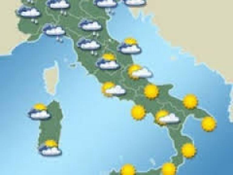 Meteo Cartina Italia.Meteo Italia Divisa In Due Pioggia Al Nord Sole Al Centrosud Meteo Abruzzo24ore
