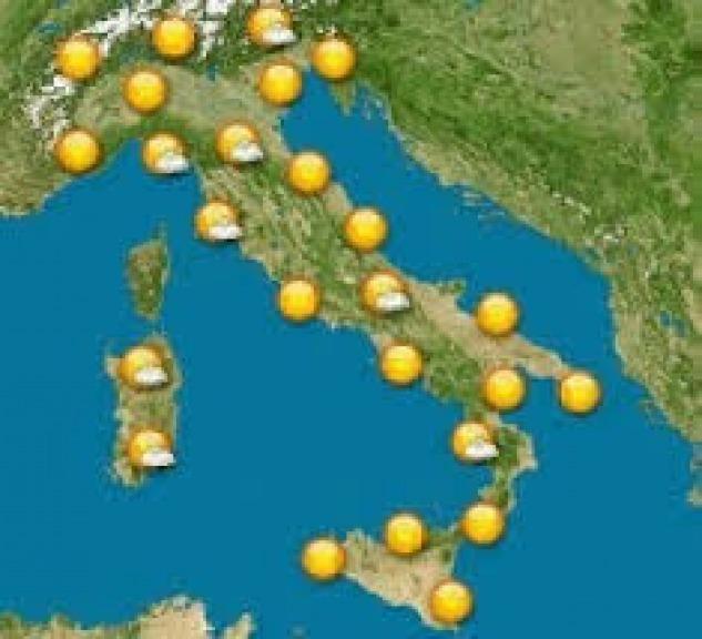 Meteo Cartina Italia.Previsioni Meteo Sull Italia Sole Fino Al Weekend Poi Nuvole Sparse Meteo Abruzzo24ore
