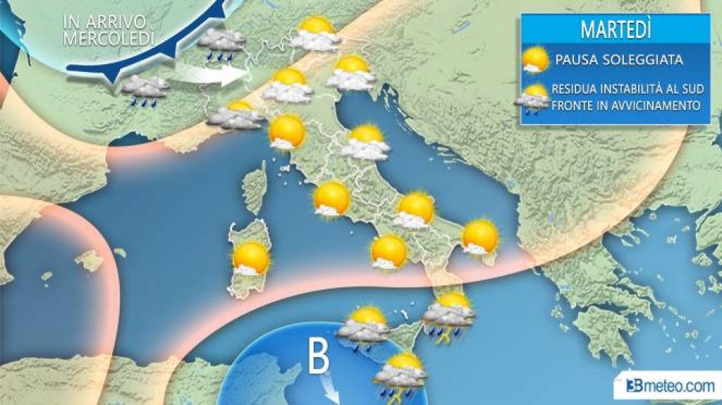 Le previsioni meteo per domani, venerdì 11 ottobre
