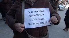 Protesta lavoratori ex lsu