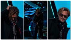 Johnny Depp ubriaco sul palco