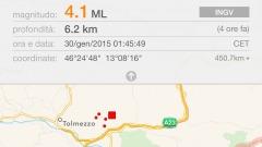 Scossa di terremoto Udine