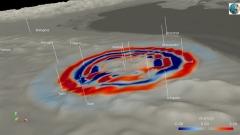 Animazione diffusa dall'Istituto Nazionale di Geofisica e Vulcanologia