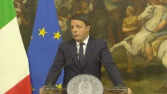 Conferenza Stampa del presidente del Consiglio Renzi