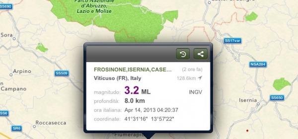 Terremoto zone Frosinone