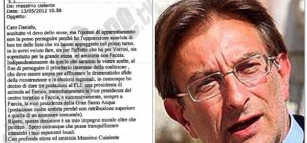 Massimo Cialente e il documento contestato