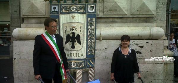 Massimo Cialente e Stefania Pezzopane - carriole
