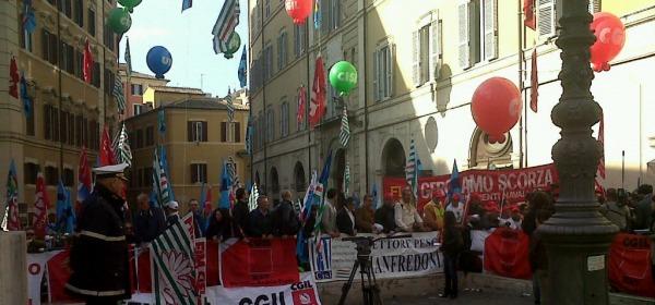 Manifestazione Cgil Cisl Uil 16 aprile a Roma