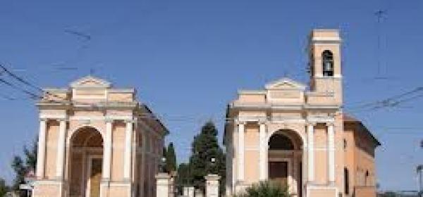 L'ingresso dell'attuale cimitero in zona Sant'Anna