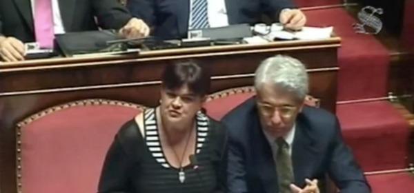 Stefania Pezzopane aula senato