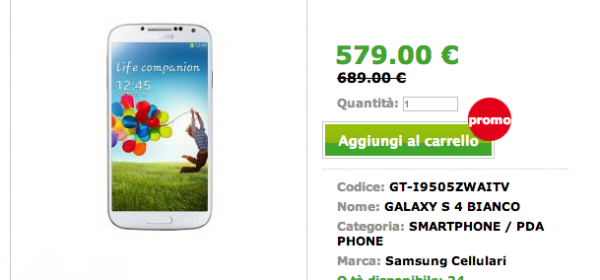 Offerta Samsung Galaxy S4