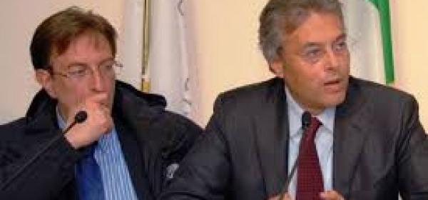 Massimo Cialente e Gianni Chiodi in un'immagine di repertorio