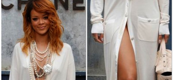 Rihanna, outfit sfilata Chanel