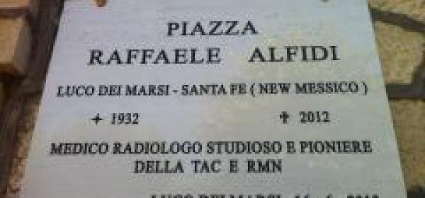 Targa della Piazza intitolata ad Alfidi
