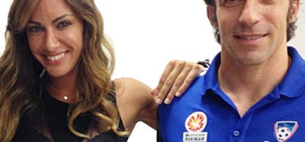 Melita Toniolo e Alex Del Piero