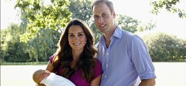 Kate Middleton, William Winsdor e George
