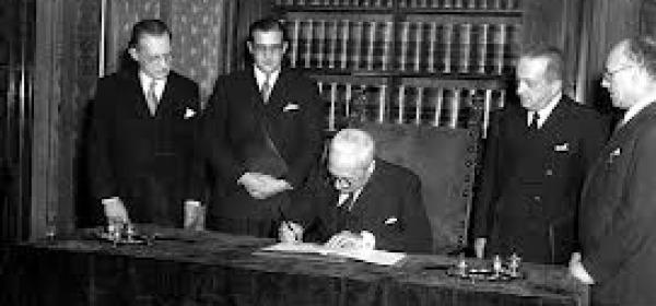 La stipula della Costituzione (27 dicembre 1947)