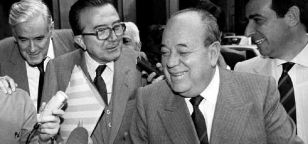 Giulio Andreotti e Remo Gaspari